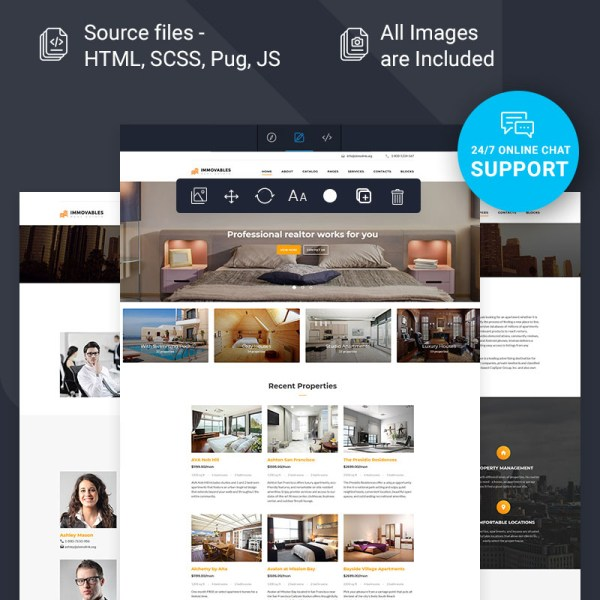 Immovables Admin Template