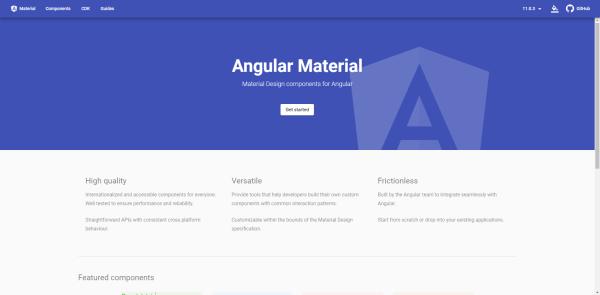 material -angular ui components