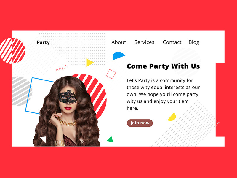 Music Party Free psd Template