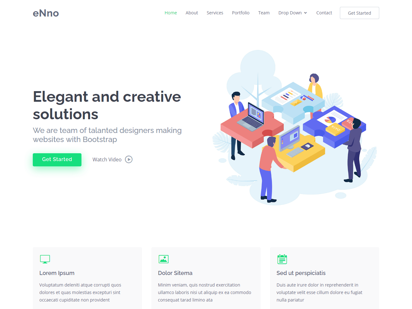 Enno Free Simple Bootstrap Template Bootstrapmade