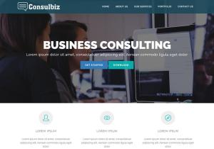 Consulbiz free consulting business bootstrap website template