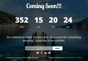 Coming soon website template free download