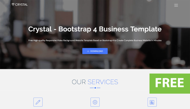 Image for Crystal - Free Bootstrap Video Background Website Template