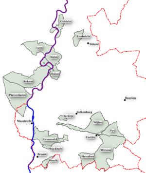 kaart van Limburg