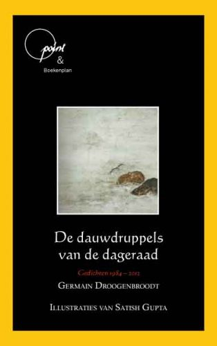 Omslag van de dichtbundel van Germain Droogenbroodt: De dauwdruppels van de dageraad