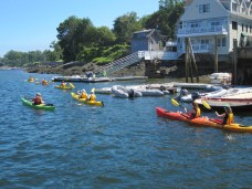 Kayakers in Camden Harbor