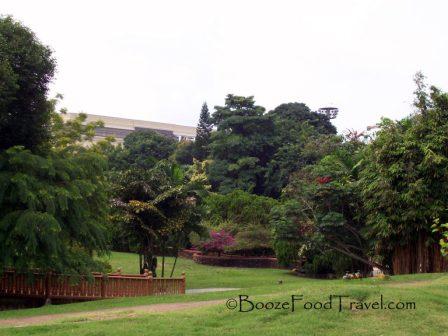 Gardens at Muzium Budaya in Malacca, Malaysia