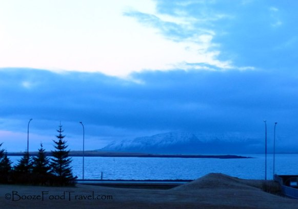 View from the shore walk in Reykjavik