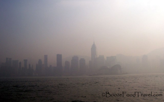 View of Central Hong Kong from Kowloon on rather bad day