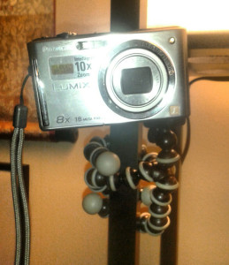 My camera with the GorillaPod.