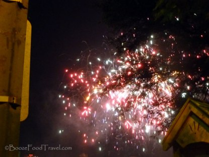 The fireworks were good even though I couldn't see them all