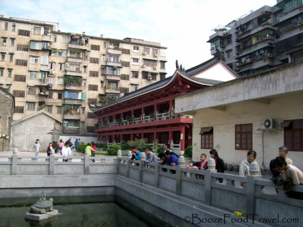 The city surrounding Guangxiao Temple and the turtle pond