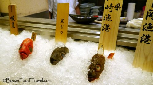 The fish heads greeted customers at the door