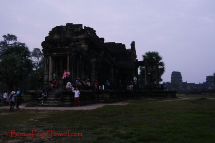 More people awaiting the sunrise at Angkor Wat
