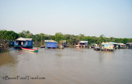 The first floating village on the way to Phnom Penh