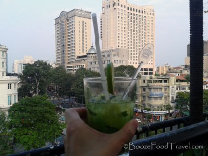 A cocktail to enjoy the view