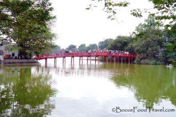 Huc Bridge to Temple of the Jade Mountain