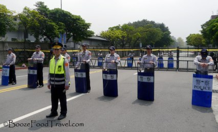 The friendly Taipei police are ready to stop you from going anywhere