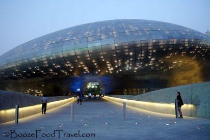 Futuristic Dondaemun building