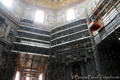 Check out all that beautiful scaffolding in the Medici Chapel