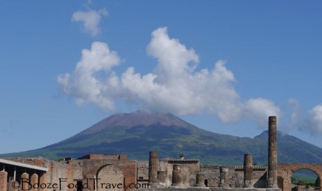 Mt. Vesuvius in the distance