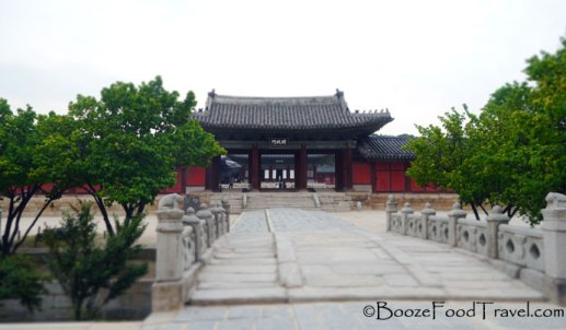 The entrance to Changdeokgung
