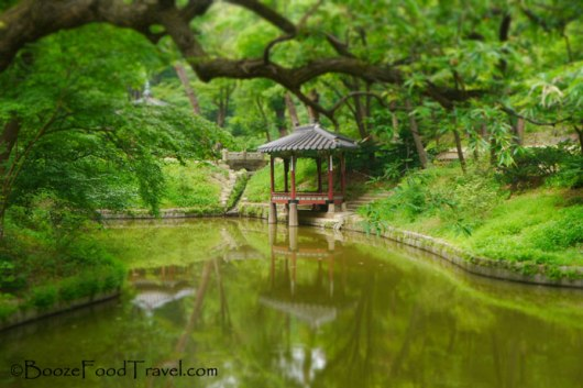 The small pavilion in the secret garden. Also my first successful tilt shift photo