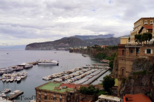 View of the harbor from Piazza Tasso before the clouds dispersed