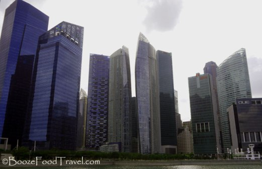 Impersonal and imposing view of modern Singapore