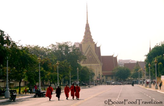 monks street phnom penh