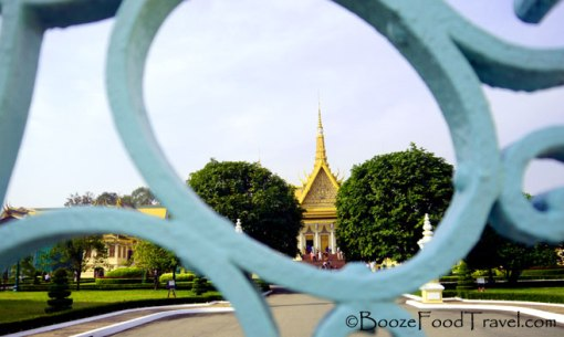 Glimpse of the palace through the gate