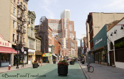 The new pedestrian mall on Newark Ave. in downtown Jersey City