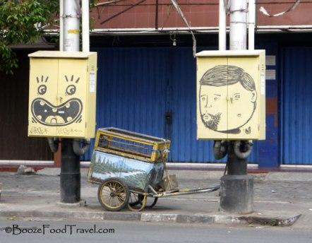 I don't know what's going on with some of the street art in Yogyakarta