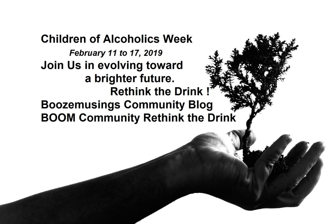 Inspiring image of a tree growing from a hand, a reflexion about alcohol abuse and parenting