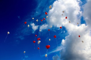 Balloons flying, happy inspiration for staying sober