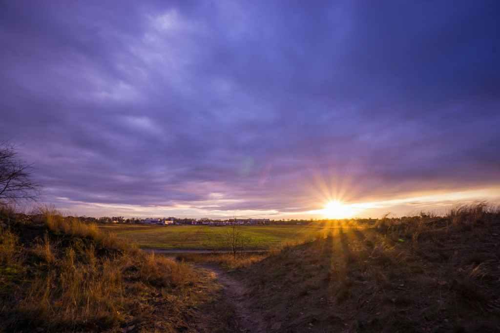 beautiful sunrise with sobriety