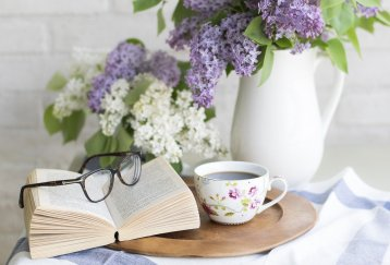 Book and Tea and Glasses - Drink in Knowledge in Alcohol Rehab