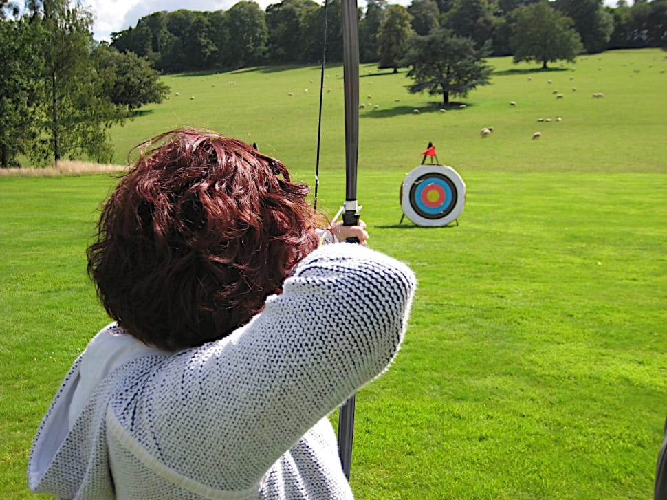 Woman shooting arrow- Make this the week that you stop drinking