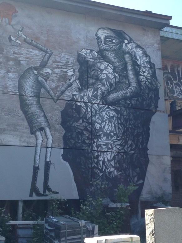 Mason mural