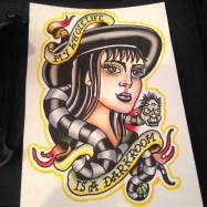Watercolor by Kevin Berube of Sharktank Tattoo