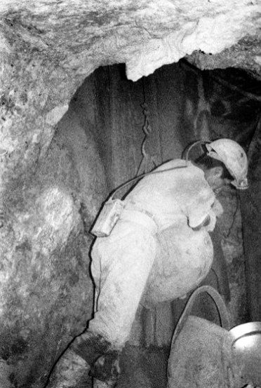 Miner working