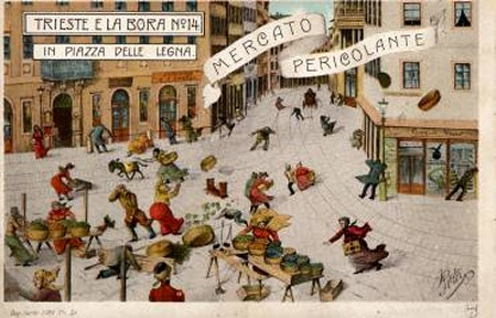 cartolina illustrata da Cesare Polli