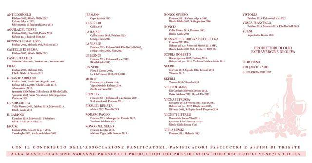 Assaggio Divino 2014 - i partecipanti