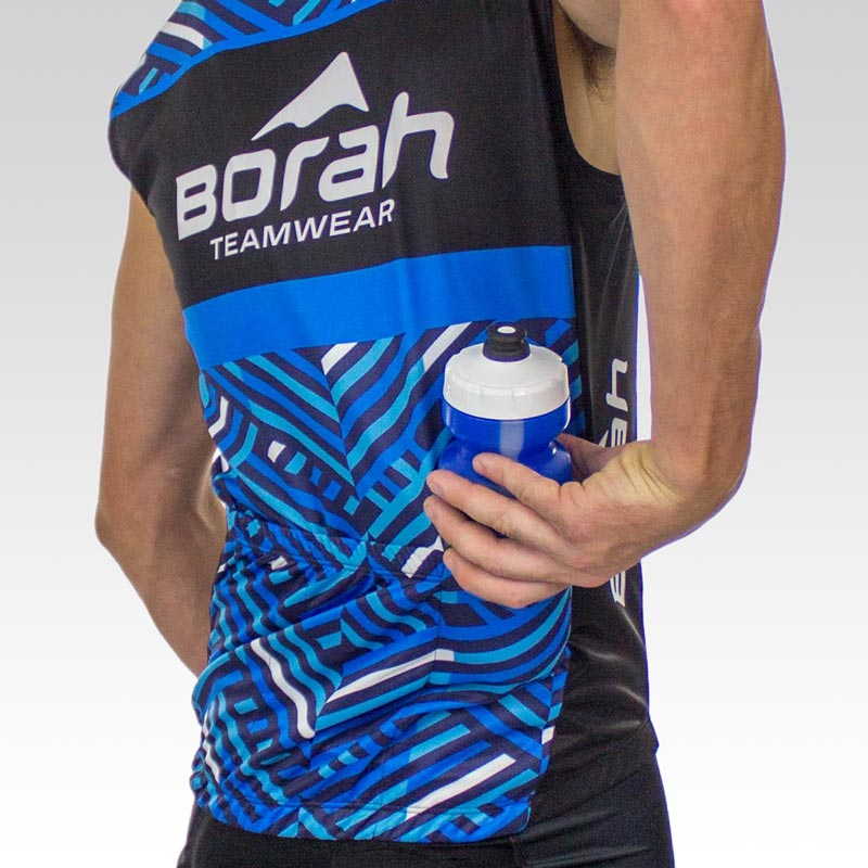 Team Sleeveless Cycling Jersey - Back 3qtr