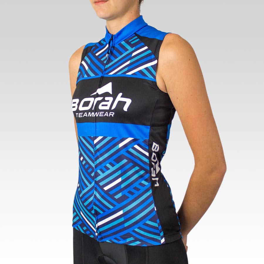 Women's Team Sleeveless Cycling Jersey - Front 3qtr