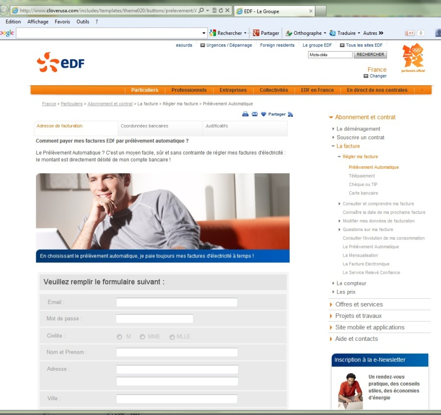 Faux site EDF