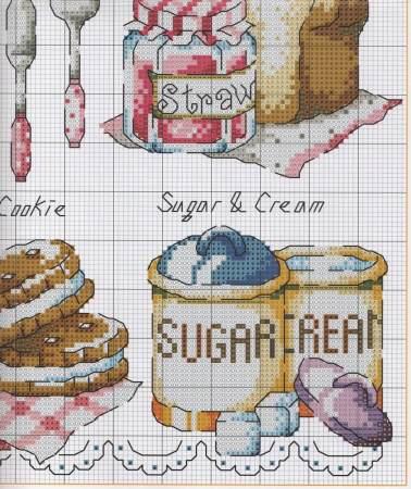 Quadro e Barrado de Cozinha Hora do Chá Rosa 5
