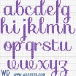 Alfabeto cursivo e simples de ponto cruz infantil 3