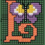 alfabeto borboletas L