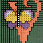 alfabeto borboletas V